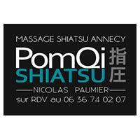 Logo de Pomqi, cabinet de shiatsu et de massage