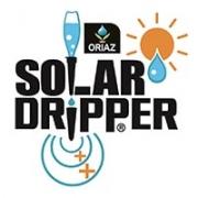 Logo de Solar-Dripper, accessoire de jardin goutte a goutte solaire