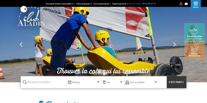 Couverture du site internet Club-Aladin, client Cubiq partenaire de C-Serp