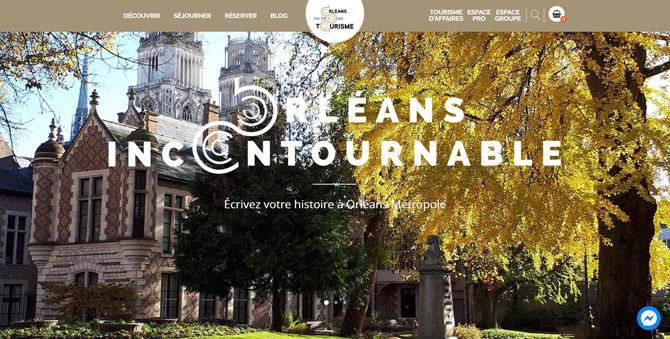 Page d'accueil du site Orléans Val de Loire Tourisme