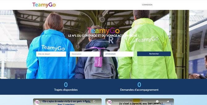 Site internet TeamyGo, leader du service d'accompagnement d'enfants en France