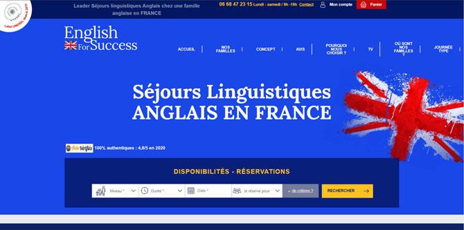 Page d'accueil du site English for success